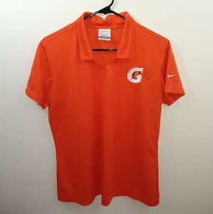 Women's L Nike golf orange Gatorade polo shirt